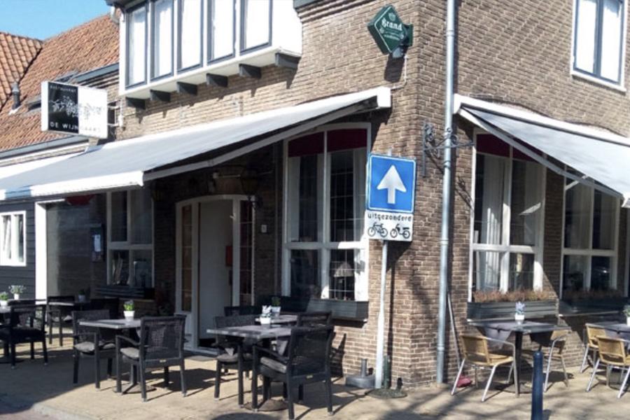 Wijngaard restaurant terras